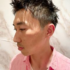 ショート 黒髪 ベリーショート メンズヘア ヘアスタイルや髪型の写真・画像