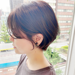 オフィス ショートヘア デート ショートボブ ヘアスタイルや髪型の写真・画像