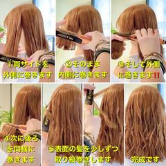 波巻き ヘアアレンジ エレガント ゆるウェーブ ヘアスタイルや髪型の写真・画像