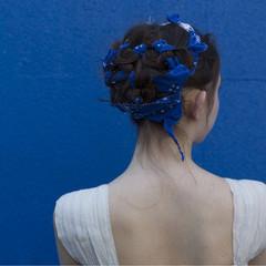 大人女子 ロング 簡単ヘアアレンジ ヘアアレンジ ヘアスタイルや髪型の写真・画像