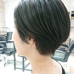 透明感 簡単スタイリング ショートボブ マッシュショート ヘアスタイルや髪型の写真・画像