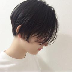 ウェットヘア 黒髪 モード リラックス ヘアスタイルや髪型の写真・画像