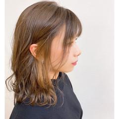 セミロング 外国人風 ナチュラル可愛い 外国人風カラー ヘアスタイルや髪型の写真・画像