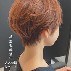 ショートヘア ショート 切りっぱなしボブ ショートボブ ヘアスタイルや髪型の写真・画像
