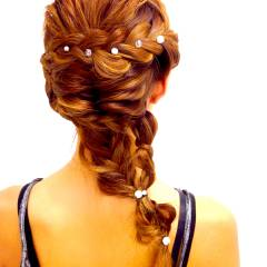 大人かわいい 外国人風 ヘアアレンジ ナチュラル ヘアスタイルや髪型の写真・画像