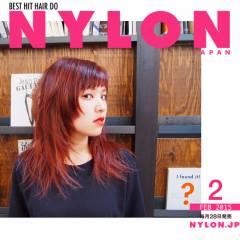 ストリート ハイライト ピンク レッド ヘアスタイルや髪型の写真・画像