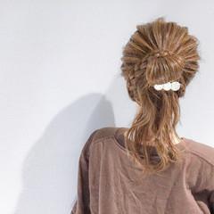 上品 簡単ヘアアレンジ デート セミロング ヘアスタイルや髪型の写真・画像