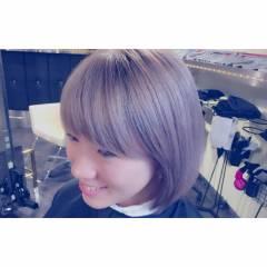 マーメイドアッシュ 透明感 ダブルカラー ボブ ヘアスタイルや髪型の写真・画像