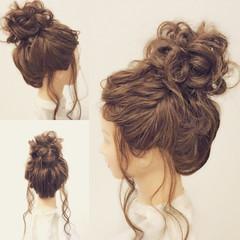 ヘアアレンジ ロング お団子 結婚式 ヘアスタイルや髪型の写真・画像