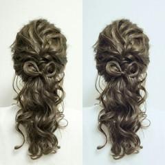 外国人風 ロング ヘアアレンジ ルーズ ヘアスタイルや髪型の写真・画像
