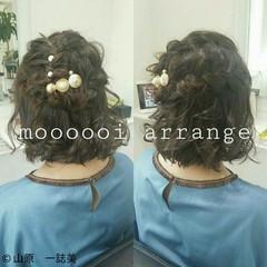 ガーリー ショート 簡単ヘアアレンジ ボブ ヘアスタイルや髪型の写真・画像