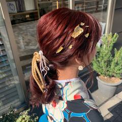 フェミニン ゆるふわセット ロング 簡単ヘアアレンジ ヘアスタイルや髪型の写真・画像