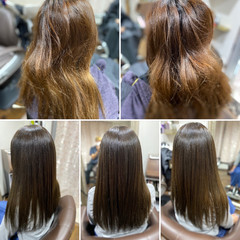 髪質改善 最新トリートメント 髪質改善カラー ガーリー ヘアスタイルや髪型の写真・画像