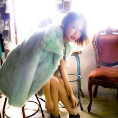 冬 色気 ストレート フェミニン ヘアスタイルや髪型の写真・画像