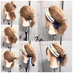 ヘアアクセ ナチュラル ヘアアレンジ ボブ ヘアスタイルや髪型の写真・画像