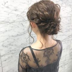 ミディアム 夏 ヘアアレンジ デート ヘアスタイルや髪型の写真・画像