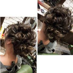 フェミニン アンニュイほつれヘア ミディアム ヘアアレンジ ヘアスタイルや髪型の写真・画像