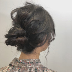 パーティ ヘアアレンジ 結婚式 ナチュラル ヘアスタイルや髪型の写真・画像