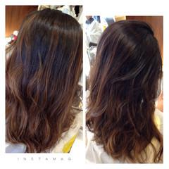 大人かわいい グラデーションカラー 暗髪 アッシュ ヘアスタイルや髪型の写真・画像