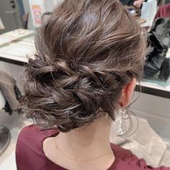 結婚式ヘアアレンジ シニヨン 二次会ヘア エレガント ヘアスタイルや髪型の写真・画像