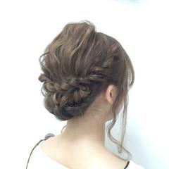 モテ髪 大人かわいい セミロング ヘアアレンジ ヘアスタイルや髪型の写真・画像