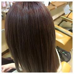 ミディアム グラデーションカラー パープル ストリート ヘアスタイルや髪型の写真・画像