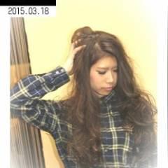 ロング 外国人風 ゆるふわ パンク ヘアスタイルや髪型の写真・画像