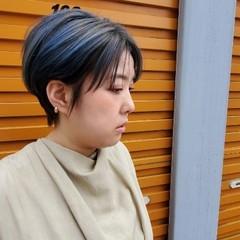 ナチュラル ハンサムショート ショート シースルーバング ヘアスタイルや髪型の写真・画像
