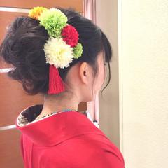 お団子 ショート ヘアアレンジ 簡単ヘアアレンジ ヘアスタイルや髪型の写真・画像