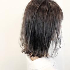モテボブ 大人かわいい ミディアム ミルクティーベージュ ヘアスタイルや髪型の写真・画像