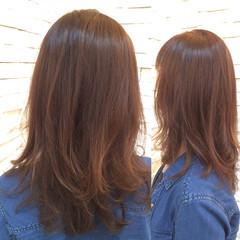 オーガニックカラー ミディアム 秋 くせ毛風 ヘアスタイルや髪型の写真・画像