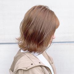透明感カラー ミルクティーベージュ ボブ ナチュラル ヘアスタイルや髪型の写真・画像