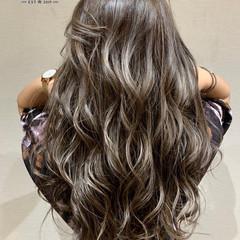 エアータッチ グラデーションカラー ナチュラル ハイライト ヘアスタイルや髪型の写真・画像