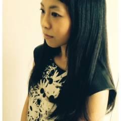 ガーリー 卵型 ストレート 丸顔 ヘアスタイルや髪型の写真・画像