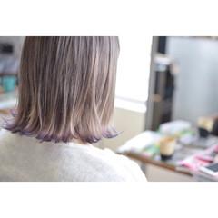 グラデーションカラー ストリート ボブ ダブルカラー ヘアスタイルや髪型の写真・画像