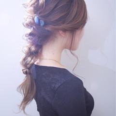 ヘアアクセ アッシュ ゆるふわ モード ヘアスタイルや髪型の写真・画像