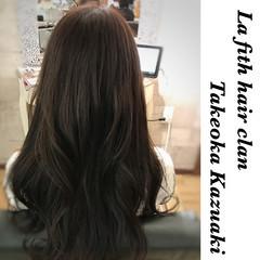 イルミナカラー ブルー ナチュラル ロング ヘアスタイルや髪型の写真・画像