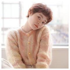 小顔ショート フェミニン 大人女子 ベリーショート ヘアスタイルや髪型の写真・画像