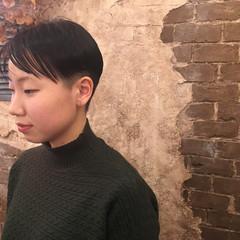 小顔 ショート モード ベリーショート ヘアスタイルや髪型の写真・画像
