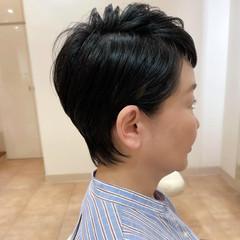 小顔ショート ベリーショート ナチュラル ショート ヘアスタイルや髪型の写真・画像