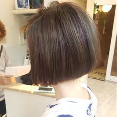 ボブ 外国人風 ストリート ダブルカラー ヘアスタイルや髪型の写真・画像
