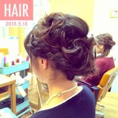 二次会 簡単 ヘアアレンジ コンサバ ヘアスタイルや髪型の写真・画像