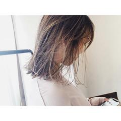 コントラストハイライト ハイライト ナチュラル 極細ハイライト ヘアスタイルや髪型の写真・画像
