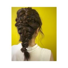 夏 ナチュラル 大人かわいい 三つ編み ヘアスタイルや髪型の写真・画像