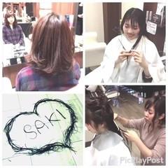 ミディアム ニュアンス デート 色気 ヘアスタイルや髪型の写真・画像
