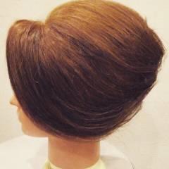 ヘアアレンジ セミロング 上品 夜会巻 ヘアスタイルや髪型の写真・画像