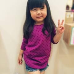 かわいい 子供 ガーリー ヘアスタイルや髪型の写真・画像