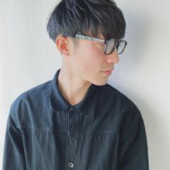 メンズスタイル マッシュショート ツーブロック 黒髪 ヘアスタイルや髪型の写真・画像