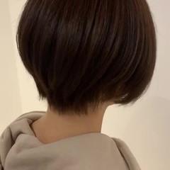 フェミニン ショート ミニボブ ショートヘア ヘアスタイルや髪型の写真・画像