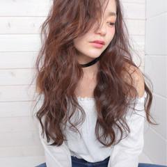アンニュイ ウェーブ おフェロ ロング ヘアスタイルや髪型の写真・画像